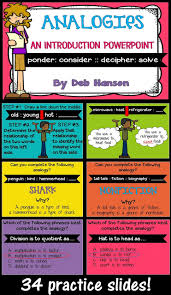 Types Of Analogies Chart Analogies Anchor Chart Plus A Freebie Crafting Connections