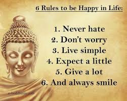 Buddhas Rules For Happy Life Are Simple Buddha Zen Happiness