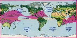 Resultado de imagen de mapa donde es mas probable que haya un huracan