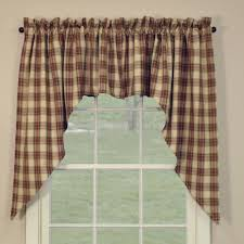 Red Swag Kitchen Curtains Country Swag Curtains Cinnamon Swags 72 X 36