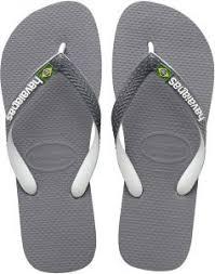 Havaianas Mens Flip Flop Sandals Brazil Mix Logo Steel Grey White White 45 46 Br 13 M Us