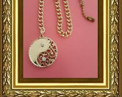 ceiling fan pull chain home decor gold yin yang faux diamonds gold