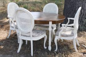 Distressed Dining Room Chairs Dining Table Gorgeous Distressed Dining Room Table And Chairs