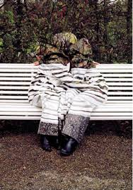 Park Bench / Couple (2001) by Desiree Palmen. Camouflage was designed to hide  things ...
