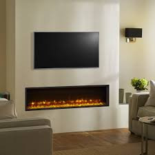 Electric Inset Fire Gazco Radiance 135R Inset Edge Electric Fire with  vari-colour flame Electric