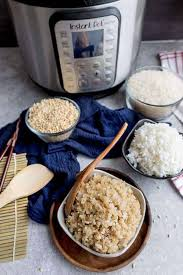 instant pot rice ings with brown and white rice