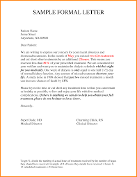 formal letter example example of formal letter format 1