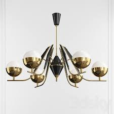 cole modern brass chandelier by robert