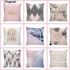G <b>Nordic Geometric Grid</b> Pillow Case Decor Zipper Cover | Shopee ...