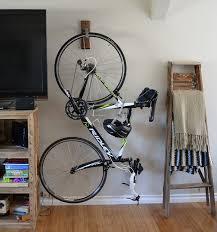 vertical hanging bike rack