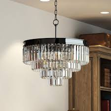 7 best black nickel odeon prism crystal chandelier images on regarding awesome home glass prism chandelier designs
