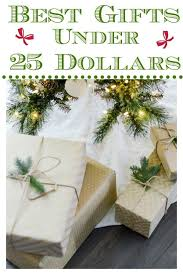 pretty gift bo wrapped for the holidays to show gifts under 25 dollars