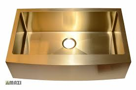 Stainless Steel Handmade Color Kitchen Sink Ac1013 Gold Color Mazi