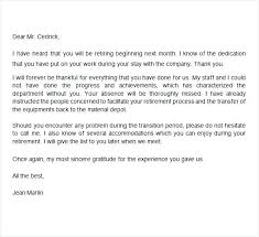 Letter Of Retirement To Employer Thank You Note Employee Impression