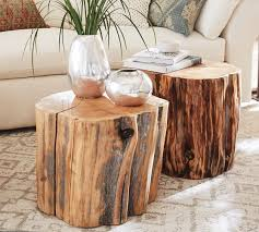 Tree stump furniture Diy Pottery Barn Reclaimed Wood Stump Table Pottery Barn