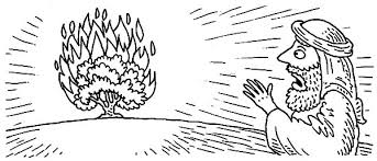 Small Picture Moses Surprised Seeing Burning Bush Coloring Pages NetArt