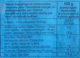 Mozzarella Light Nutrition Facts Mozzarella Light 9 Mg Carrefour 240 G 125 G Net
