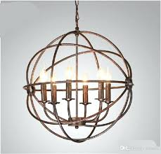 lighting restoration hardware vintage pendant lamp foucaults orb chandelier