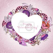 Hier findet ihr eine passende herz vorlage zum ausdrucken: Dekorative Herz Vorlage Mit Rosa Und Lila Blumenmuster Rahmen Leinwandbilder Bilder Nubes Schone Beere Myloview De