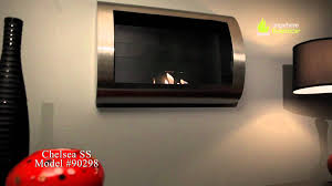 anywhere fireplace chelsea stainless steel ventless bio ethanol fireplace