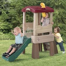 kids tree houses with slides. Step2 Naturally Playful Lookout Treehouse Slide Kids Tree Houses With Slides