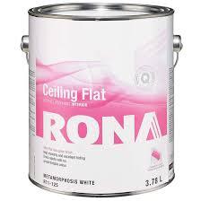 white ceiling paintFlat Finish Interior Ceiling Paint  RONA