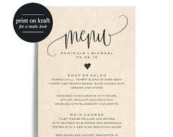 Free Wedding Reception Templates Wedding Food Menu Template Free