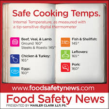 Usda Food Temperature Cooking Chart Learn The Basics To Keep Food Safe At Home Food Safety News