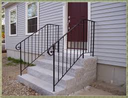 Wrought Iron Handrails Repair Broken Handrails For Stairs Home Designing