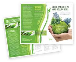 Green Brochure Template Green Habitat Brochure Template Design And Layout Download Now