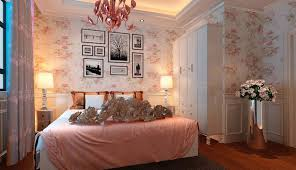 romantic bedroom paint colors ideas. Floral Wall Art Decor For Romantic Bedroom Styles With Awesome Chandelier And Luxury Interior Design Ideas Paint Colors N