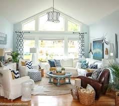 coastal living room navy and white cozy refresh at furniture beach house i66 beach