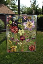 lucy bouquet pressed flowers in glass frame