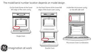 ge recalls to inspect and repair wall ovens due to fire and burn diagrams of ovens showing that the model serial number location depends on the model design
