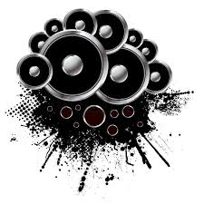 Grunge Style Speaker Background With Stock Vector Colourbox