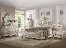 DUMONT - 5pcs Traditional White Bedroom Set Furniture w/ Queen ...