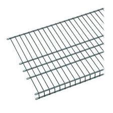 d silver ventilated wire shelf