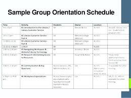 new employee orientation schedule training program schedule template program schedule template new