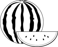 イラストポップの幼児教育素材 8月no15スイカの無料イラスト