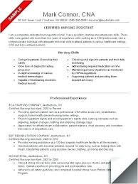 Private Duty Cna Resume Sample Duties For Job Description Certified Magnificent Cna Resume Sample