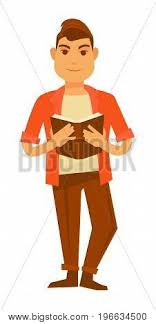 young stylish guy in bright orange shirt clic trousers beige t shirt and