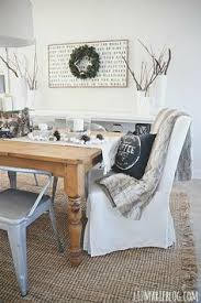 empty house table runner desk l slipcover chairsofa chairfarmhouse dining