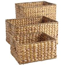 Wicker Baskets Shelves Decorating With Ideas For Laundry Room