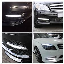 2013 Mercedes C250 Daytime Running Lights Hot Deal B82be 1 Pair Led Fog Lamp Drl Daytime Running