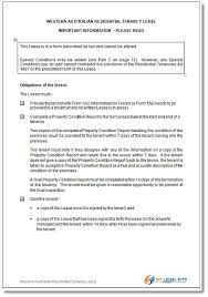 lease agreement sample residential tenancy agreement western australia wa rental agreement
