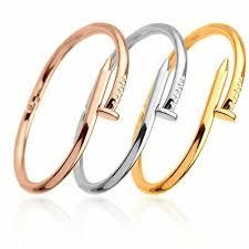 <b>ECODAY</b> Nail Bracelet Bangles For Women Stainless Steel Screw ...