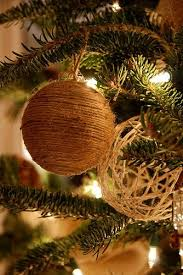 Decorated Styrofoam Balls DIY tree decorations either using twine wrapped and glued around 68