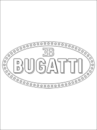 Small Picture Coloring page Bugatti logo Coloring pages