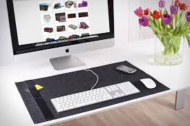 burning love felt desk pad