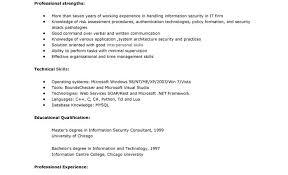 Sample Security Consultant Res Staruptalent Com